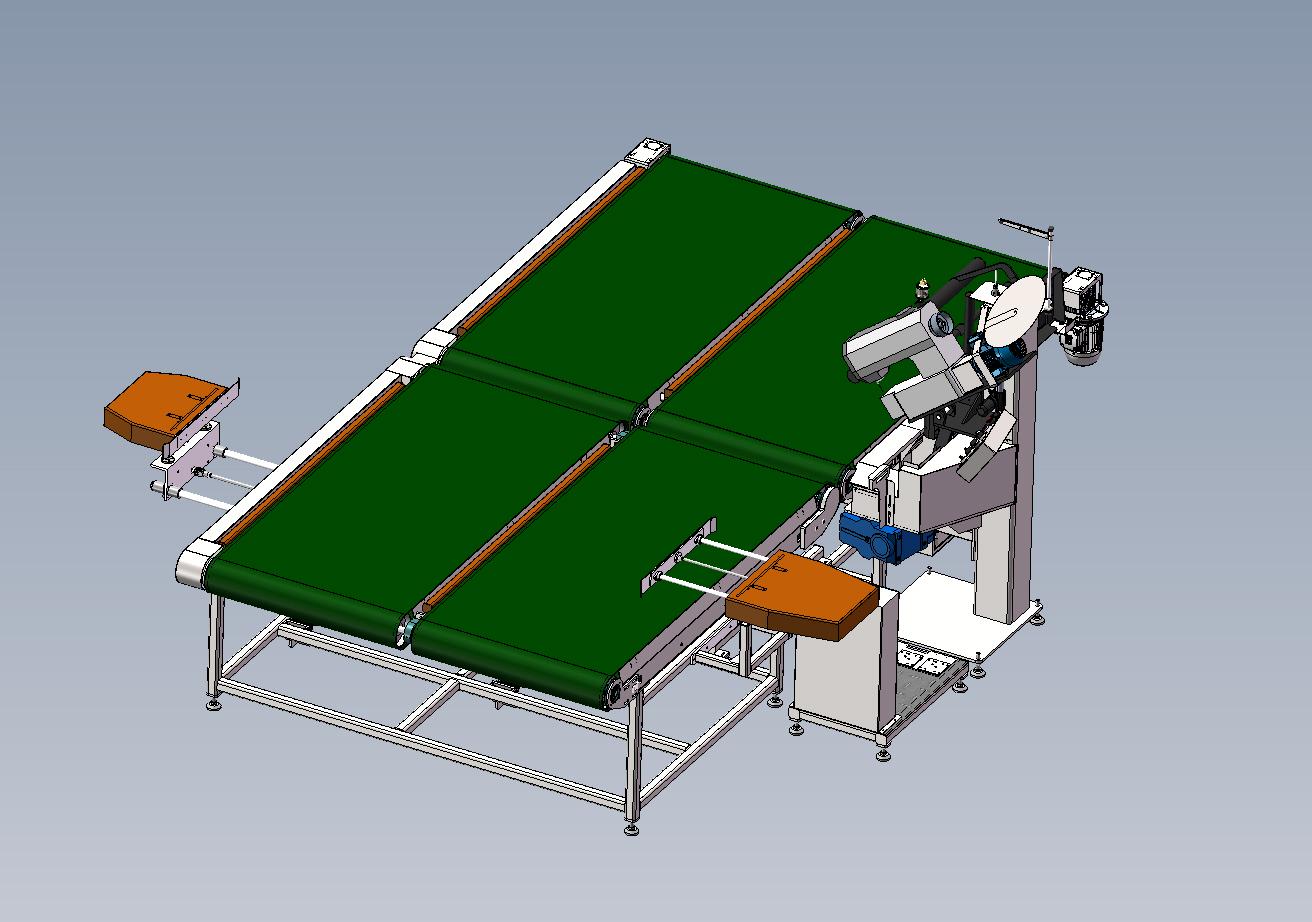自动翻转床垫围边机, 床垫机械